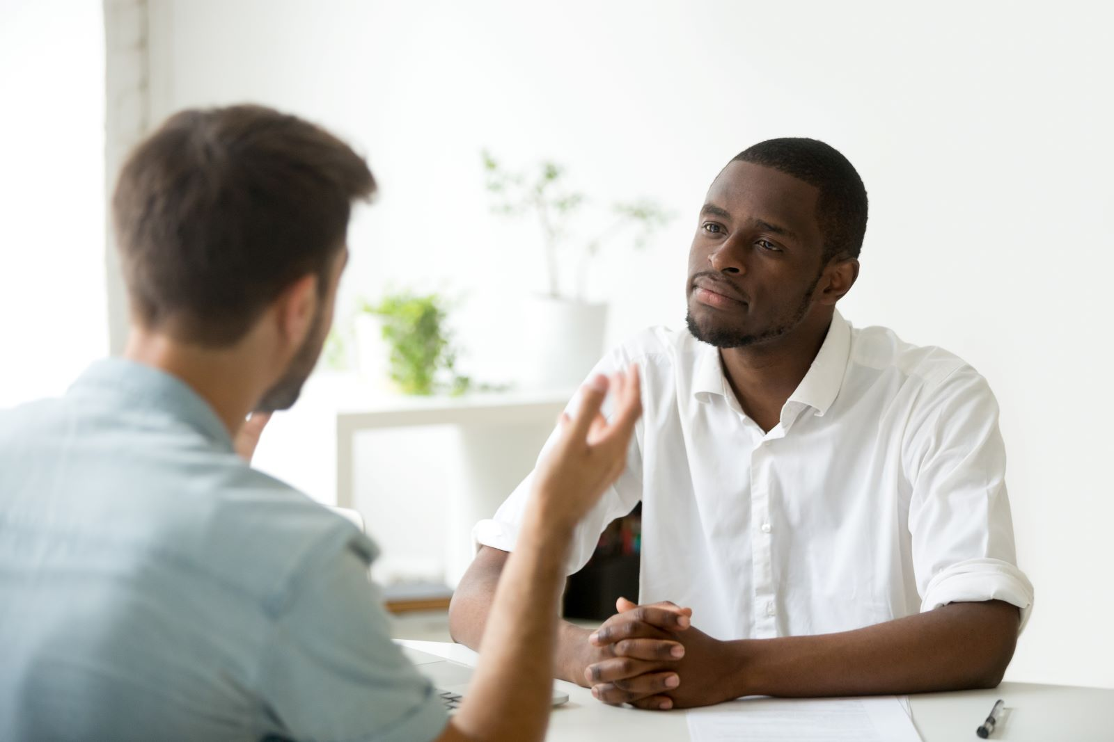 Life coach talking with a client